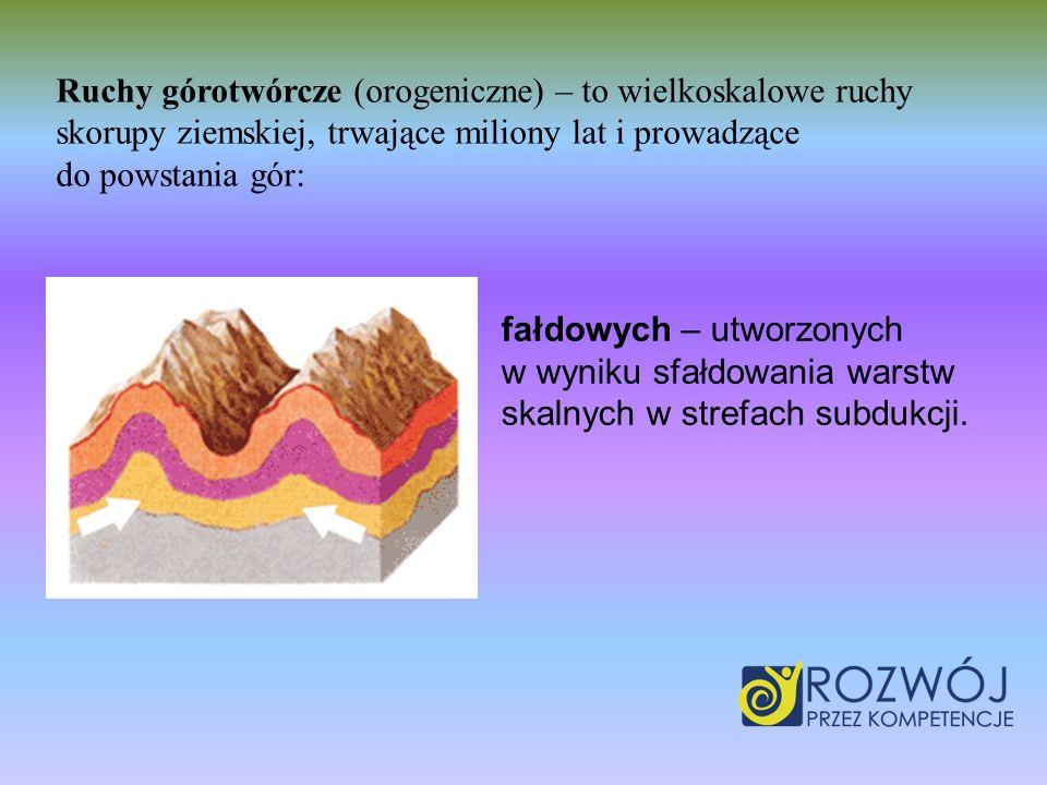 Ruchy górotwórcze (orogeniczne) – to wielkoskalowe ruchy skorupy ziemskiej, trwające miliony lat i prowadzące do powstania gór: fałdowych – utworzonyc