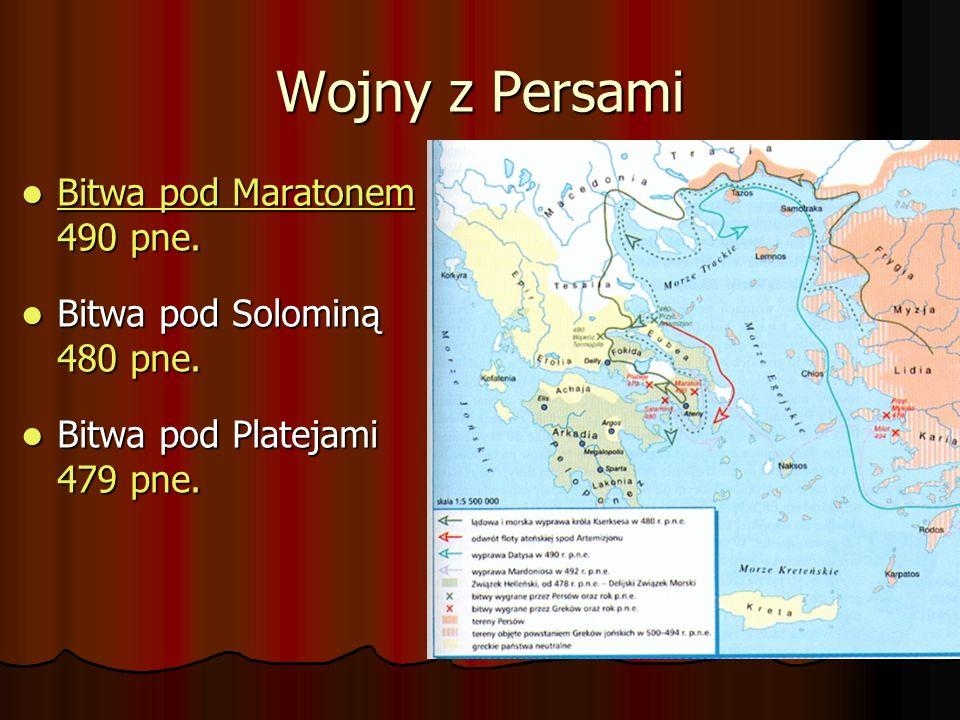 Wojny z Persami Bitwa pod Maratonem 490 pne. Bitwa pod Maratonem 490 pne. Bitwa pod Maratonem Bitwa pod Maratonem Bitwa pod Solominą 480 pne. Bitwa po