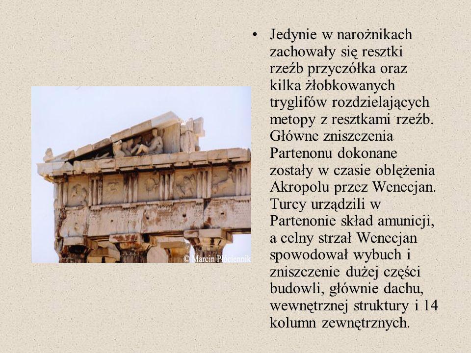 Erechtejon Obok Partenonu na Akropolu znajduje się wiele ciekawych i ważnych budowli, do najważniejszych można zaliczyć Erechtejon, zbudowany w latch 421-406 p.n.e.