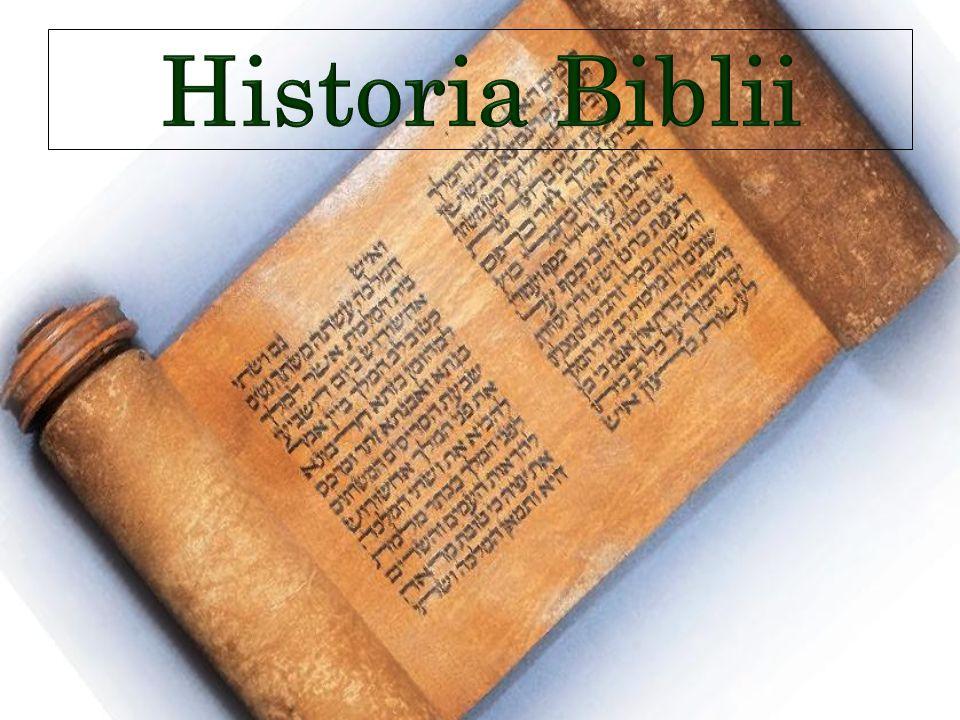 Nazwa Biblia pochodzi od greckiego słowa biblos oznaczającego papirus bądź świętą czcigodną księgę.