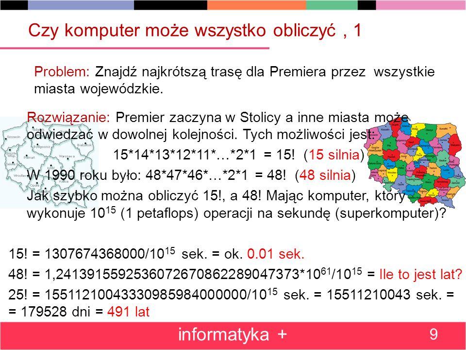 Pokrewne zajęcia w Projekcie Informatyka + Wykład+Warsztaty (Wszechnica Poranna): Wprowadzenie do algorytmiki i programowania – wyszukiwanie i porządkowanie informacji Proste rachunki wykonywane za pomocą komputera.