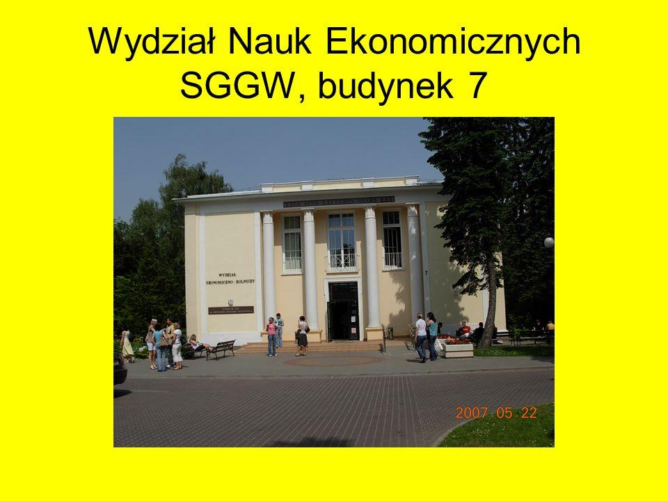 Wydział Nauk Ekonomicznych SGGW, budynek 7
