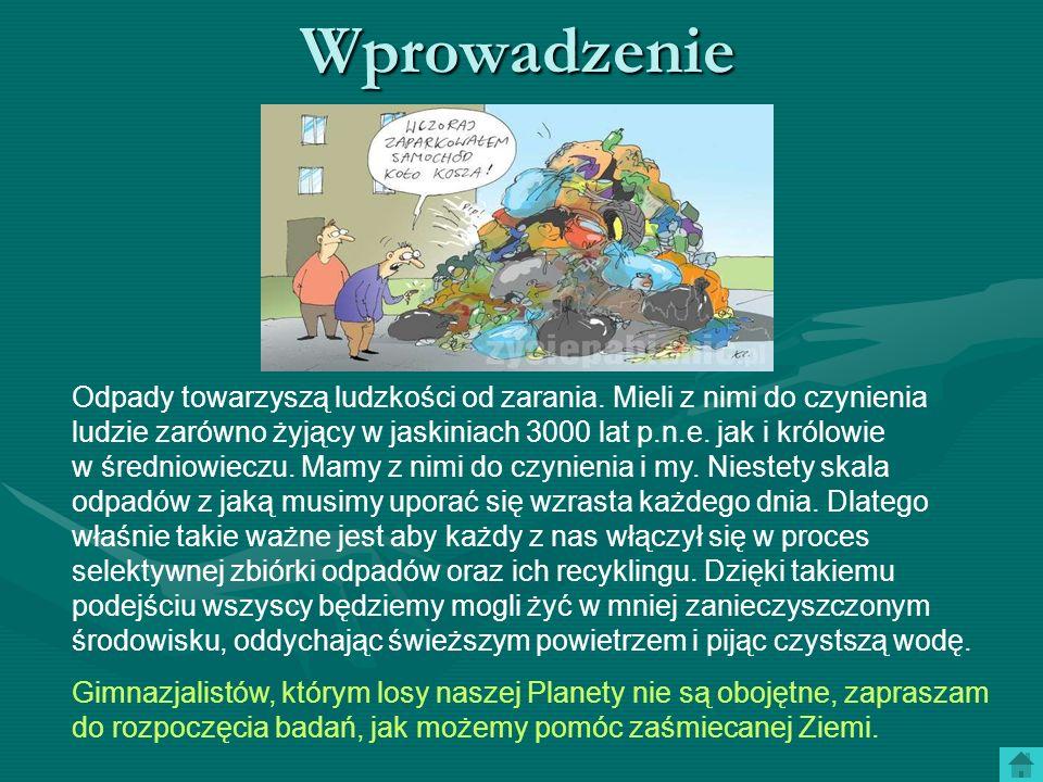Zadanie Waszym zadaniem będzie zgromadzenie i opracowanie istotnych informacji dotyczących segregacji odpadów oraz możliwości ich powtórnego wykorzystania, czyli recyklingu.
