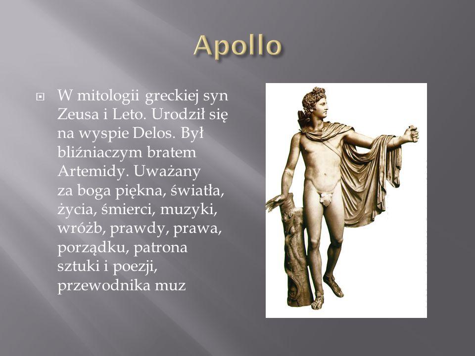W mitologii greckiej bóg dzikiej natury, winnej latorośli i wina, reprezentujący nie tylko jego upajający wpływ, ale także ten dobroczynny, Był też bogiem życia i śmierci.