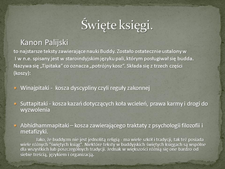 Kanon Palijski to najstarsze teksty zawierające nauki Buddy. Zostało ostatecznie ustalony w I w n.e. spisany jest w staroindyjskim języku pali, którym