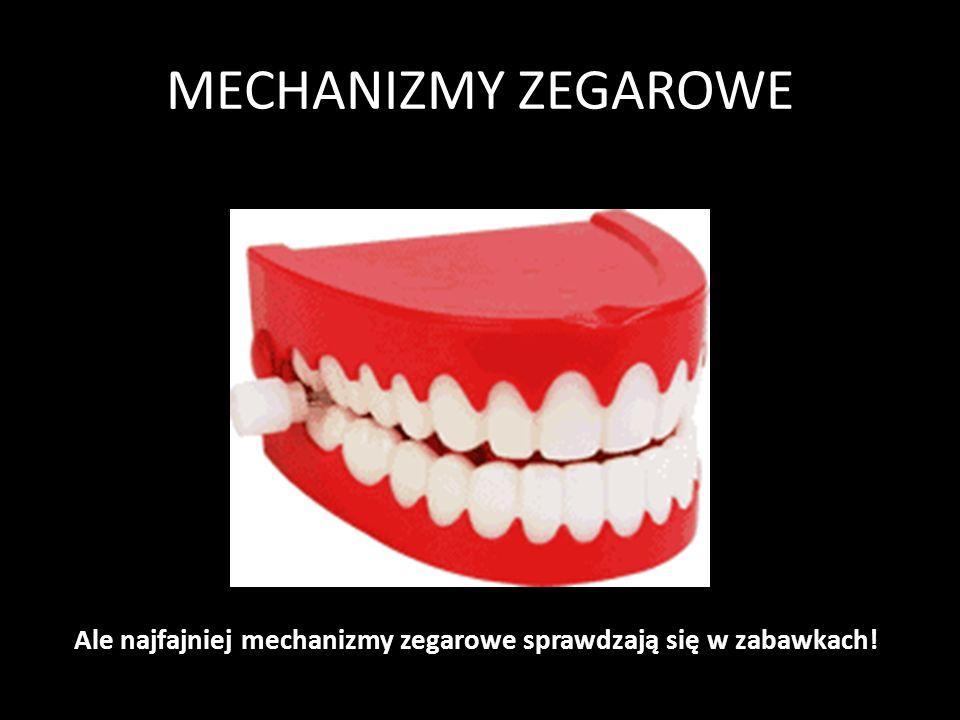 MECHANIZMY ZEGAROWE Mechanizm z Antykithiry 100 p.n.e. Mechanizm składa się 37 kół zębatych. Koła były napędzane za pomocą korby z boku i poruszały ki