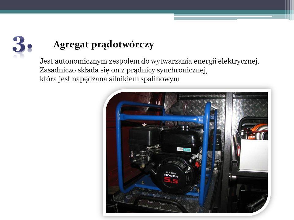 Agregat prądotwórczy Jest autonomicznym zespołem do wytwarzania energii elektrycznej. Zasadniczo składa się on z prądnicy synchronicznej, która jest n