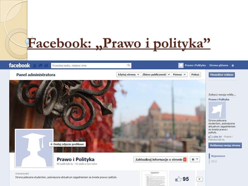 Facebook: Prawo i polityka Facebook: Prawo i polityka