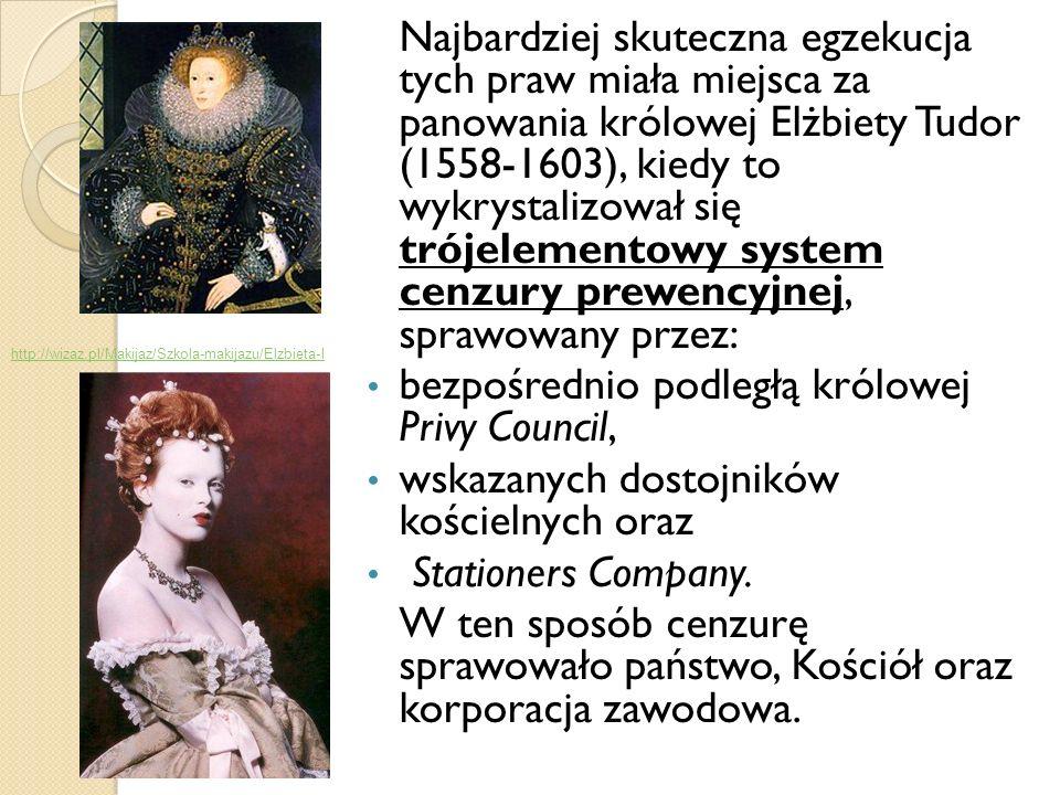 Najbardziej skuteczna egzekucja tych praw miała miejsca za panowania królowej Elżbiety Tudor (1558-1603), kiedy to wykrystalizował się trójelementowy