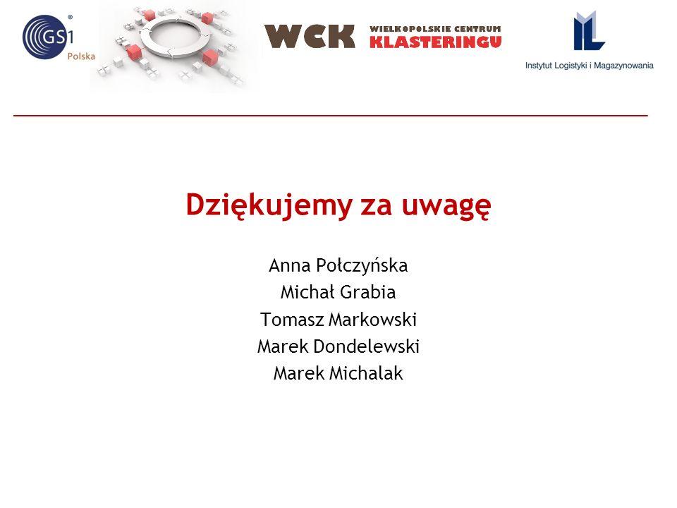 Dziękujemy za uwagę Anna Połczyńska Michał Grabia Tomasz Markowski Marek Dondelewski Marek Michalak