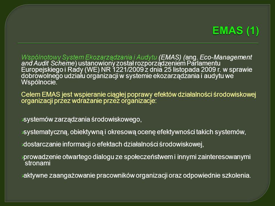 Wspólnotowy System Ekozarządzania i Audytu (EMAS) (ang.