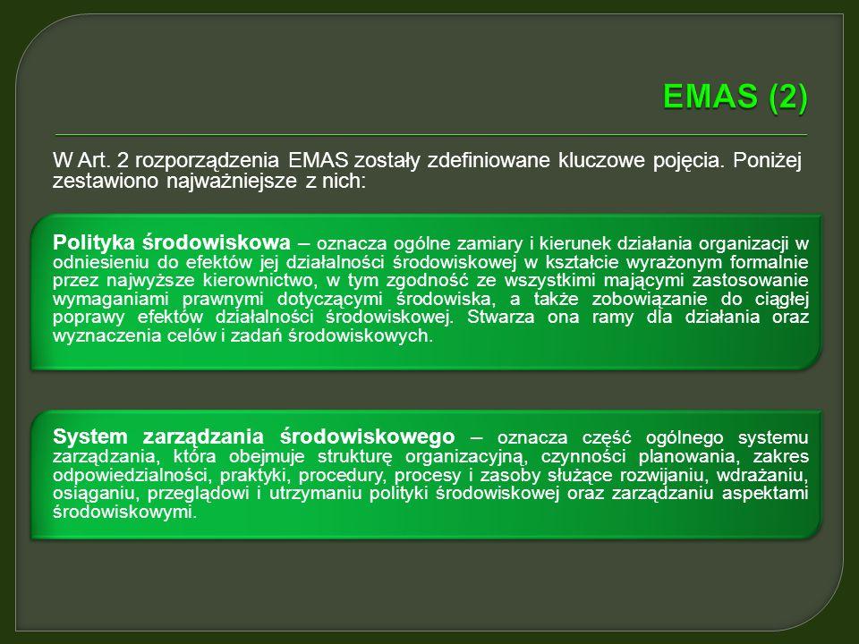 Wspólnotowy System Ekozarządzania i Audytu (EMAS) (ang. Eco-Management and Audit Scheme) ustanowiony został rozporządzeniem Parlamentu Europejskiego i