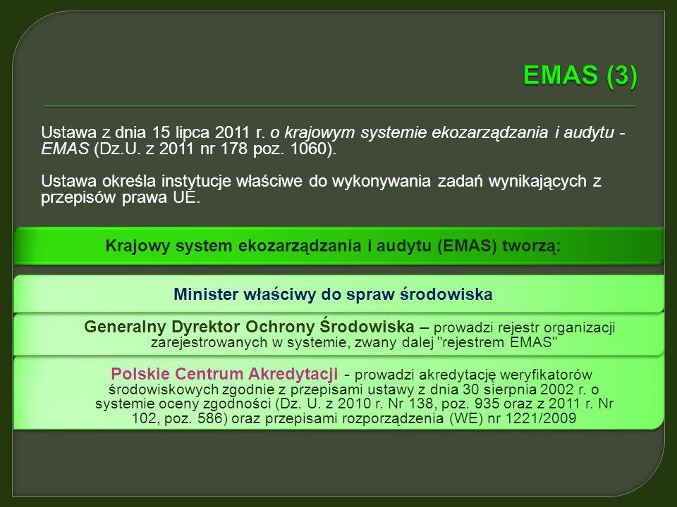 W Art. 2 rozporządzenia EMAS zostały zdefiniowane kluczowe pojęcia. Poniżej zestawiono najważniejsze z nich: Polityka środowiskowa – oznacza ogólne za