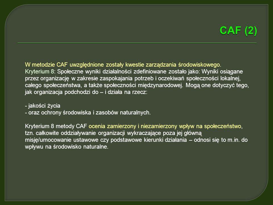 Metodę CAF opracowano w następstwie porozumienia zawartego pomiędzy odpowiedzialnymi za administrację ministrami krajów członkowskich UE. Przed metodą