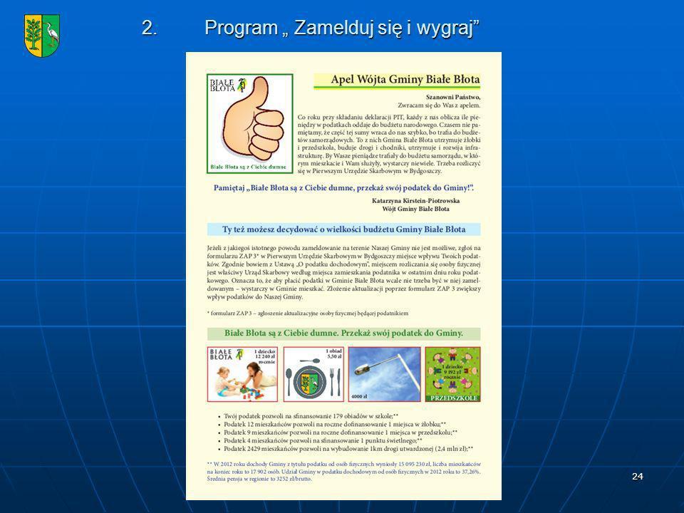 24 2.Program Zamelduj się i wygraj