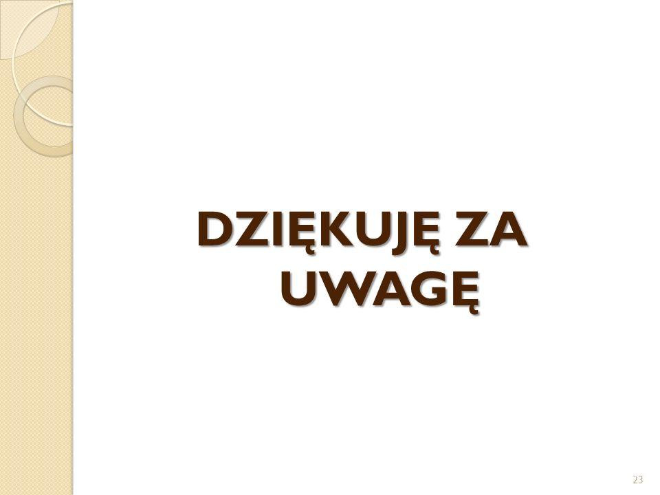 DZIĘKUJĘ ZA UWAGĘ 23