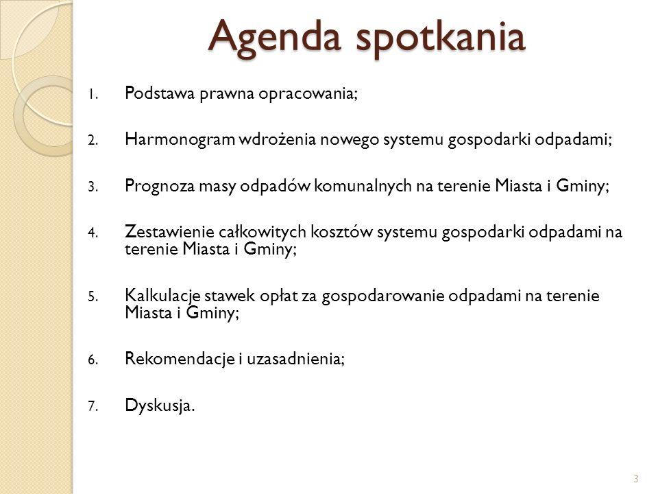 Agenda spotkania 1.Podstawa prawna opracowania; 2.