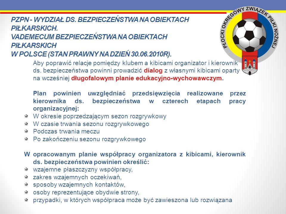 Aby poprawić relacje pomiędzy klubem a kibicami organizator i kierownik ds. bezpieczeństwa powinni prowadzić dialog z własnymi kibicami oparty na wcze