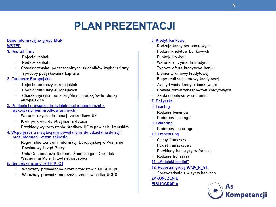 Projekt AS KOMPETENCJI jest współfinansowany przez Unię Europejską w ramach środków Europejskiego Funduszu Społecznego Program Operacyjny Kapitał Ludzki 2007-2013 CZŁOWIEK – NAJLEPSZA INWESTYCJA Publikacja jest współfinansowana przez Unię Europejską w ramach środków Europejskiego Funduszu Społecznego Prezentacja jest dystrybuowana bezpłatnie 96