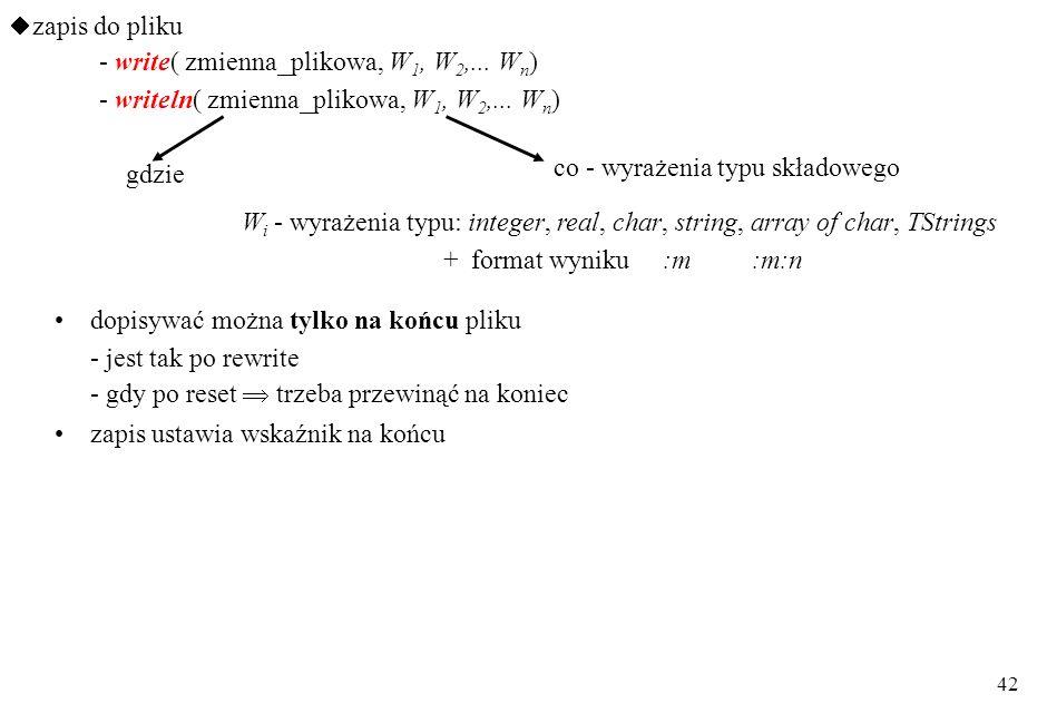 41 procedure TForm1.Otw_plikClick(Sender: TObject); var pl_wej: TextFile; nazwa_pl, wiersz: String; begin openDialog1.title := 'Plik do edycji'; openD