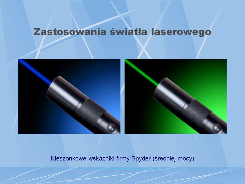 Zastosowania światła laserowego Czytniki płyt CD sposób zapisu na płycie