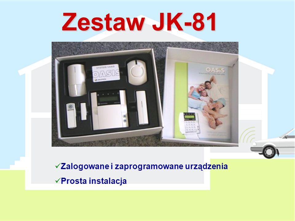 Zestaw JK-81 Zalogowane i zaprogramowane urządzenia Prosta instalacja