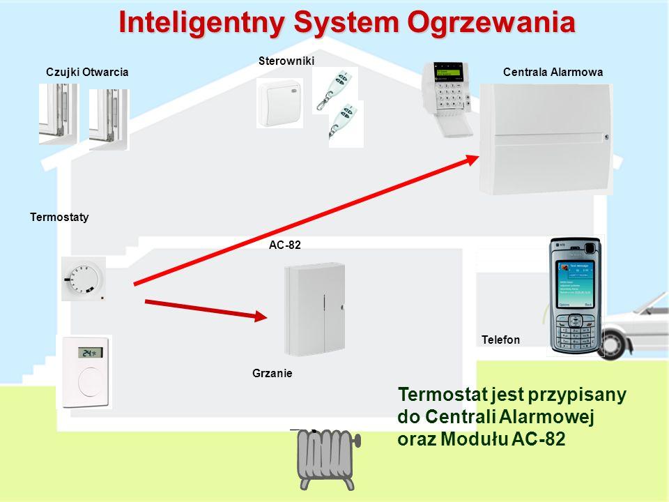 Proste Sterowanie ogrzewaniem Termostat AC-82 Radio Przewód Termostat jest przypisany do modułu wyjść AC