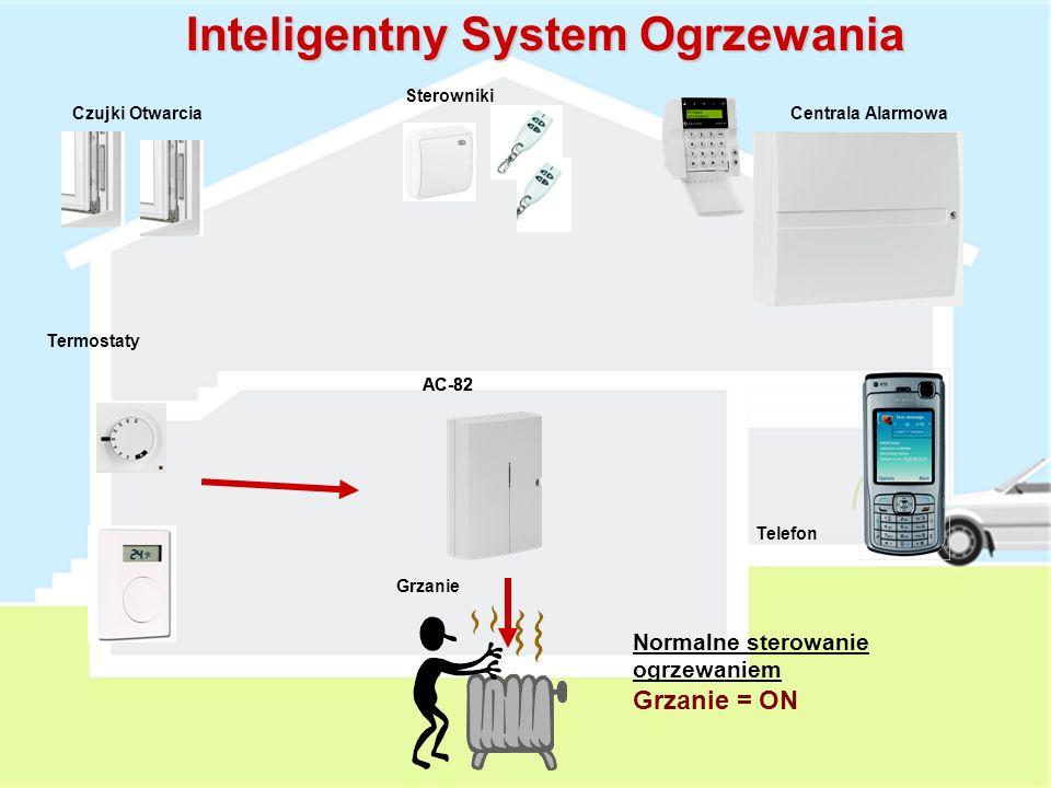 Grzanie AC-82 Termostaty Czujki OtwarciaCentrala Alarmowa Sterowniki Telefon Inteligentny System Ogrzewania Termostat jest przypisany do Centrali Alarmowej oraz Modułu AC-82
