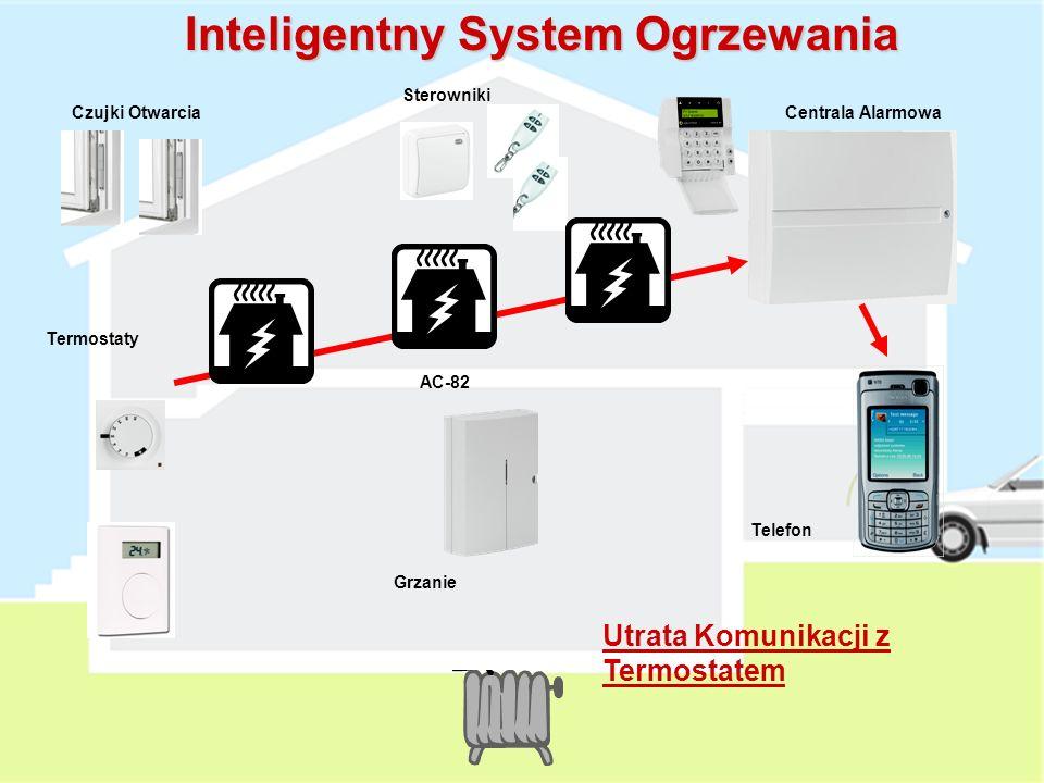 Grzanie AC-82 Termostaty Czujki OtwarciaCentrala Alarmowa Sterowniki Telefon Inteligentny System Ogrzewania Słaba Bateria w Termostacie