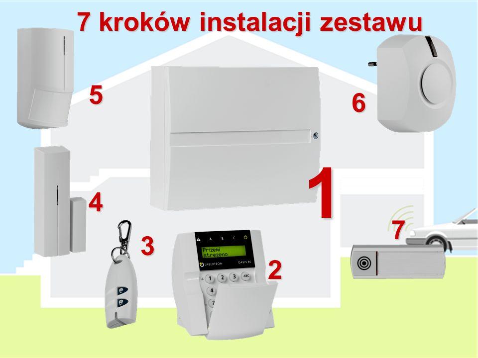 W skład systemu wchodzą: Centrala alarmowa z dialerem GSM Bezprzewodowy manipulator Pasywna czujka podczerwieni Czujka magnetyczna Sygnalizator wewnęt
