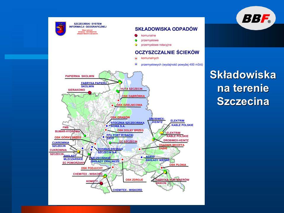 Gospodarka odpadami w Szczecinie 14 przyzakładowych składowisk odpadów przemysłowych.