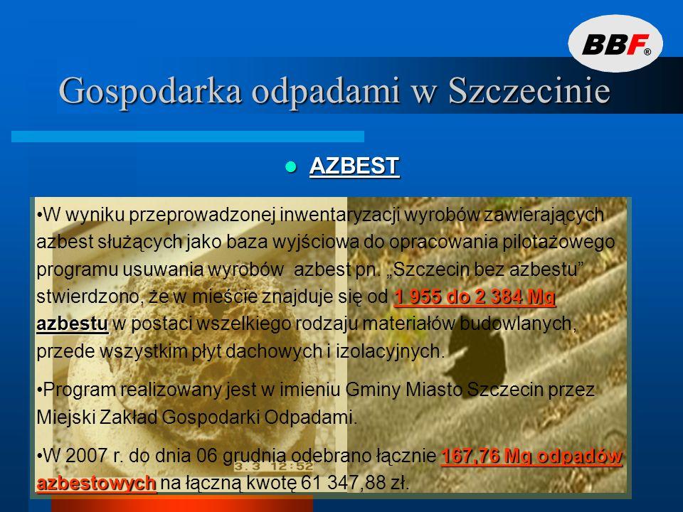 Gospodarka odpadami w Szczecinie ODPADY MEDYCZNE I WETERYNARYJNE ODPADY MEDYCZNE I WETERYNARYJNE ok.