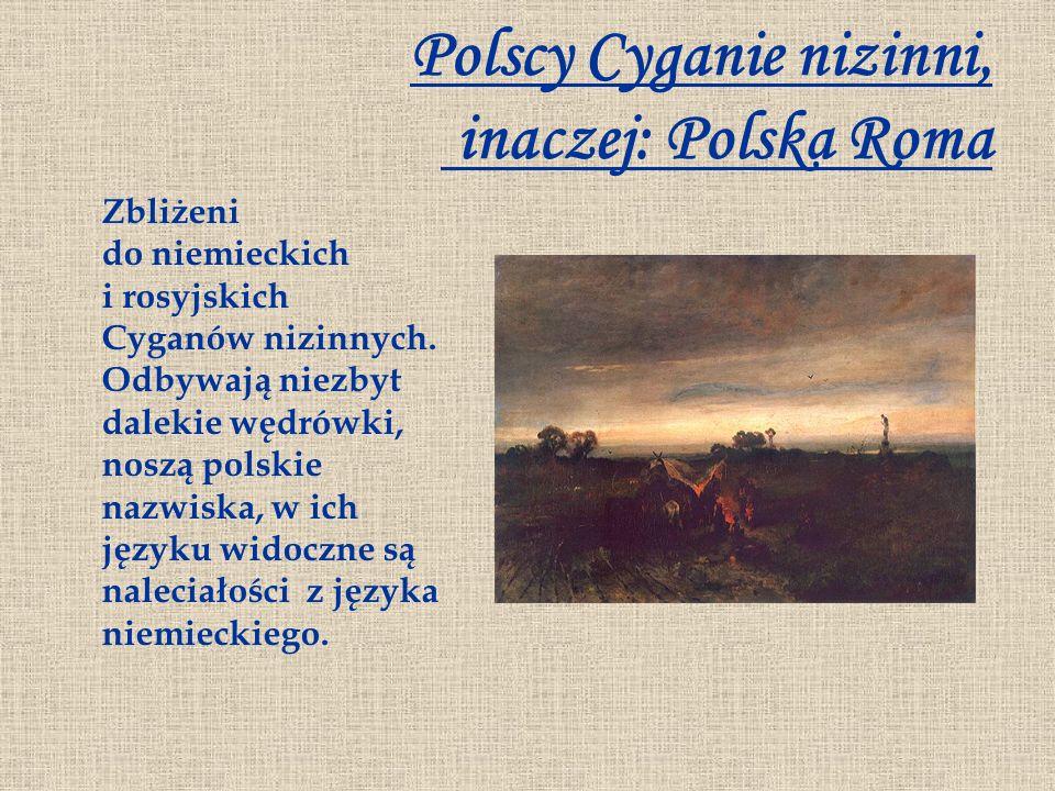 Polscy Cyganie nizinni, inaczej: Polska Roma Zbliżeni do niemieckich i rosyjskich Cyganów nizinnych. Odbywają niezbyt dalekie wędrówki, noszą polskie