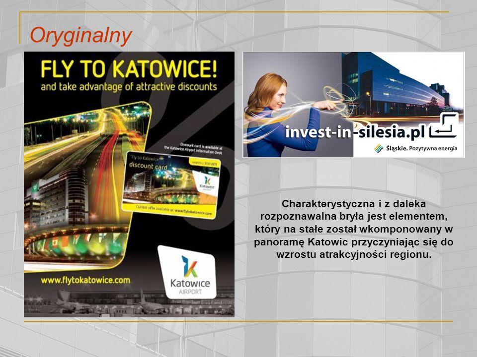 Oryginalny Charakterystyczna i z daleka rozpoznawalna bryła jest elementem, który na stałe został wkomponowany w panoramę Katowic przyczyniając się do wzrostu atrakcyjności regionu.