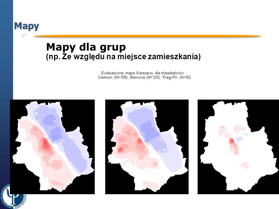 37 Projekt współfinansowany ze środków Unii Europejskiej Europejskiego Funduszu Społecznego Programu Operacyjnego Kapitał Ludzki CZŁOWIEK – NAJLEPSZA INWESTYCJA Mapy Mapy dla grup (np.