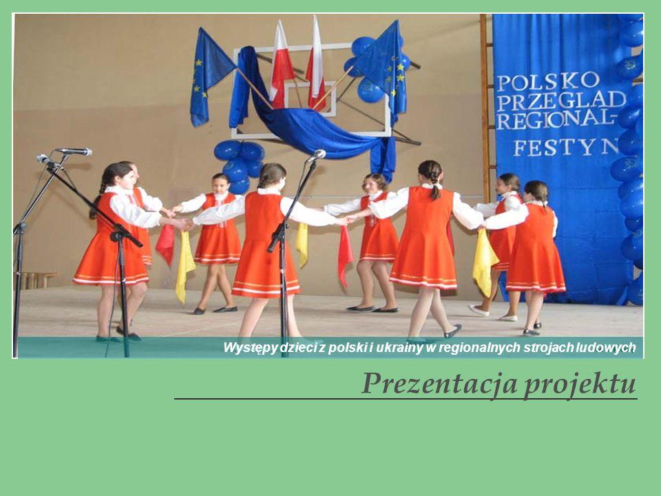 Prezentacja projektu Występy dzieci z polski i ukrainy w regionalnych strojach ludowych