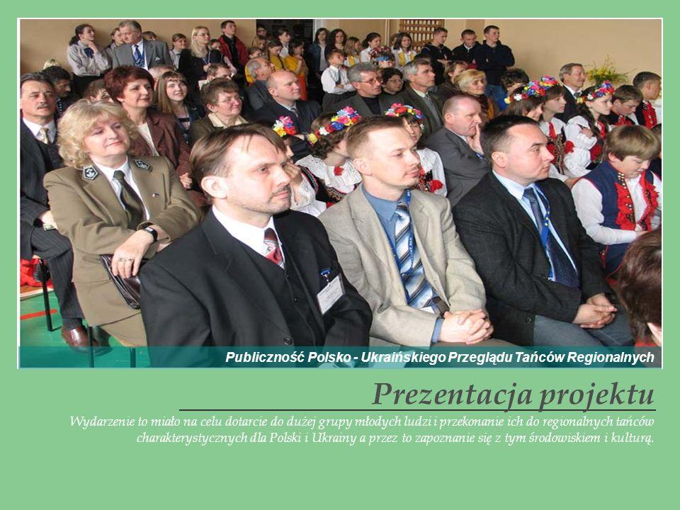 Prezentacja projektu Wydarzenie to miało na celu dotarcie do dużej grupy młodych ludzi i przekonanie ich do regionalnych tańców charakterystycznych dl