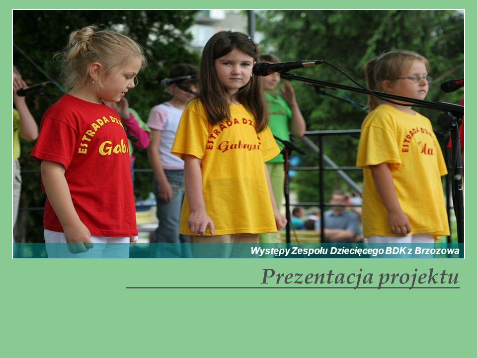 Prezentacja projektu Występy Zespołu Dziecięcego BDK z Brzozowa