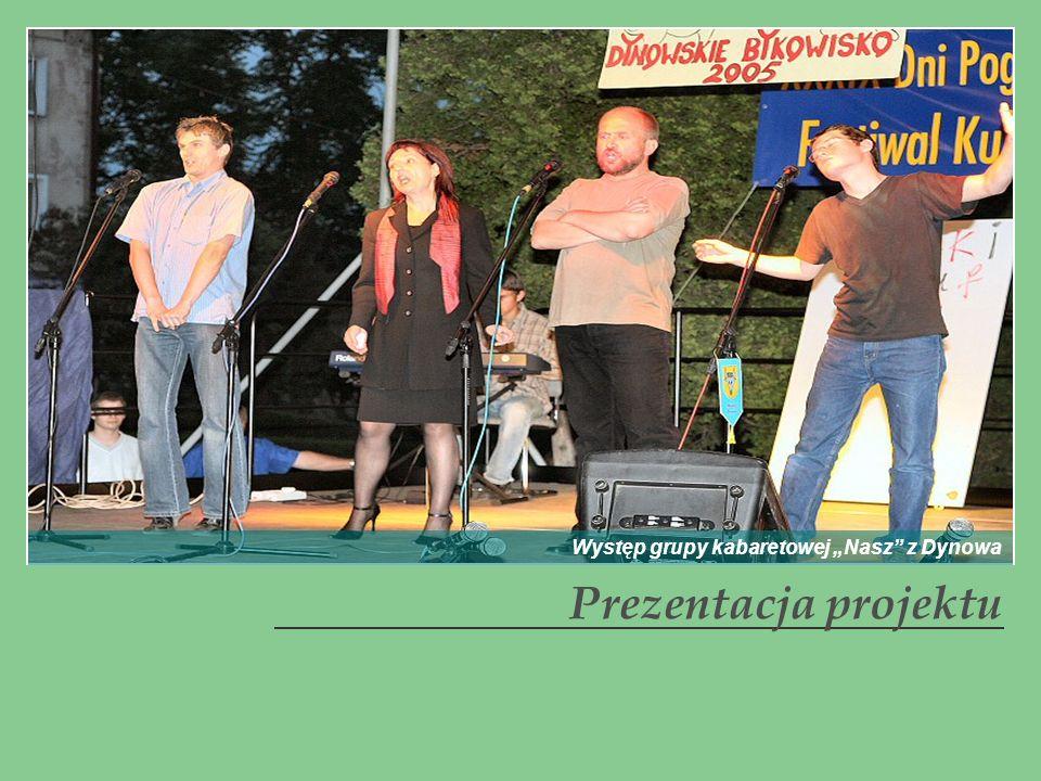 Prezentacja projektu Występ grupy kabaretowej Nasz z Dynowa