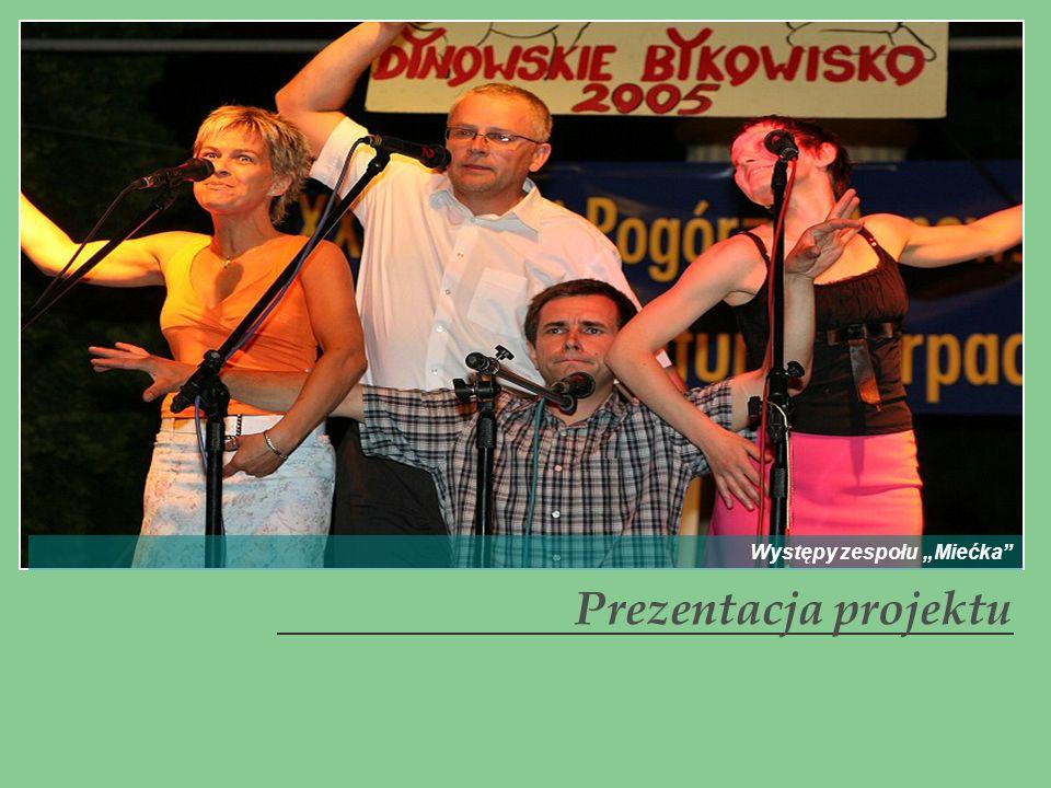 Prezentacja projektu Występy zespołu Miećka