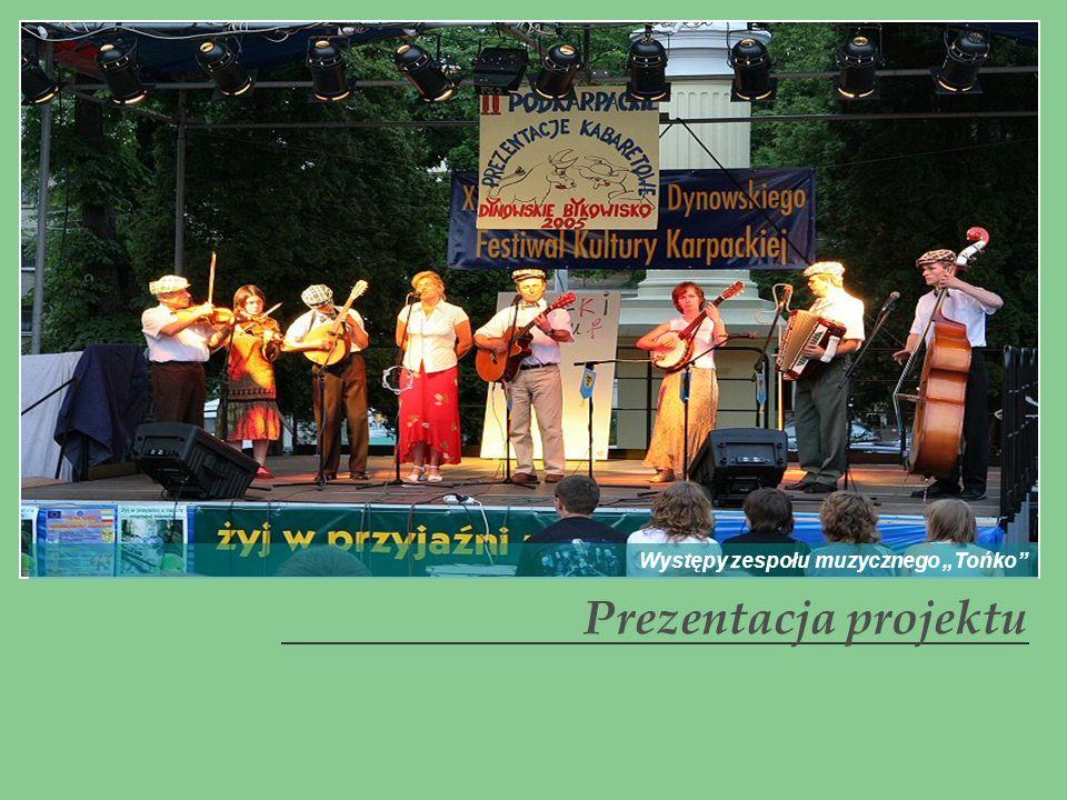 Prezentacja projektu Występy zespołu muzycznego Tońko