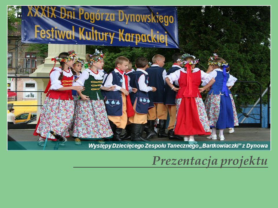 Prezentacja projektu Występy Dziecięcego Zespołu Tanecznego Bartkowiaczki z Dynowa