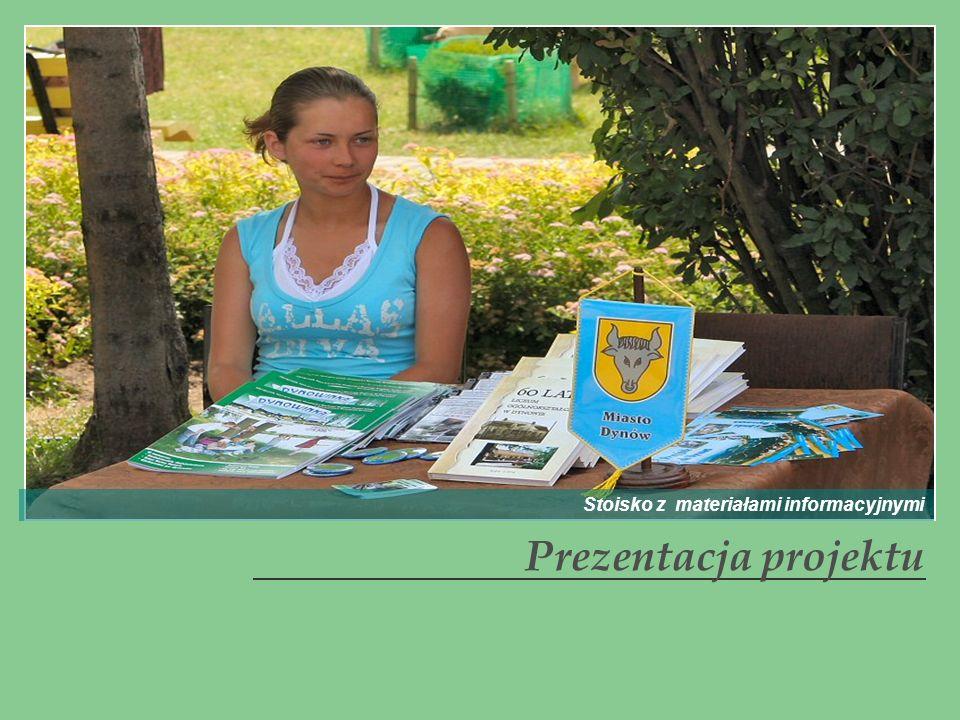 Prezentacja projektu Stoisko z materiałami informacyjnymi