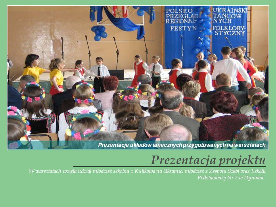 W warsztatach wzięła udział młodzież szkolna z Kulikowa na Ukrainie, młodzież z Zespołu Szkół oraz Szkoły Podstawowej Nr 2 w Dynowie. Prezentacja proj