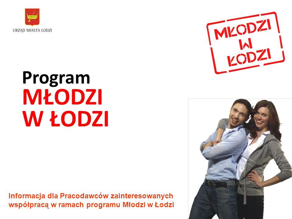 Program MŁODZI W ŁODZI Informacja dla Pracodawców zainteresowanych współpracą w ramach programu Młodzi w Łodzi