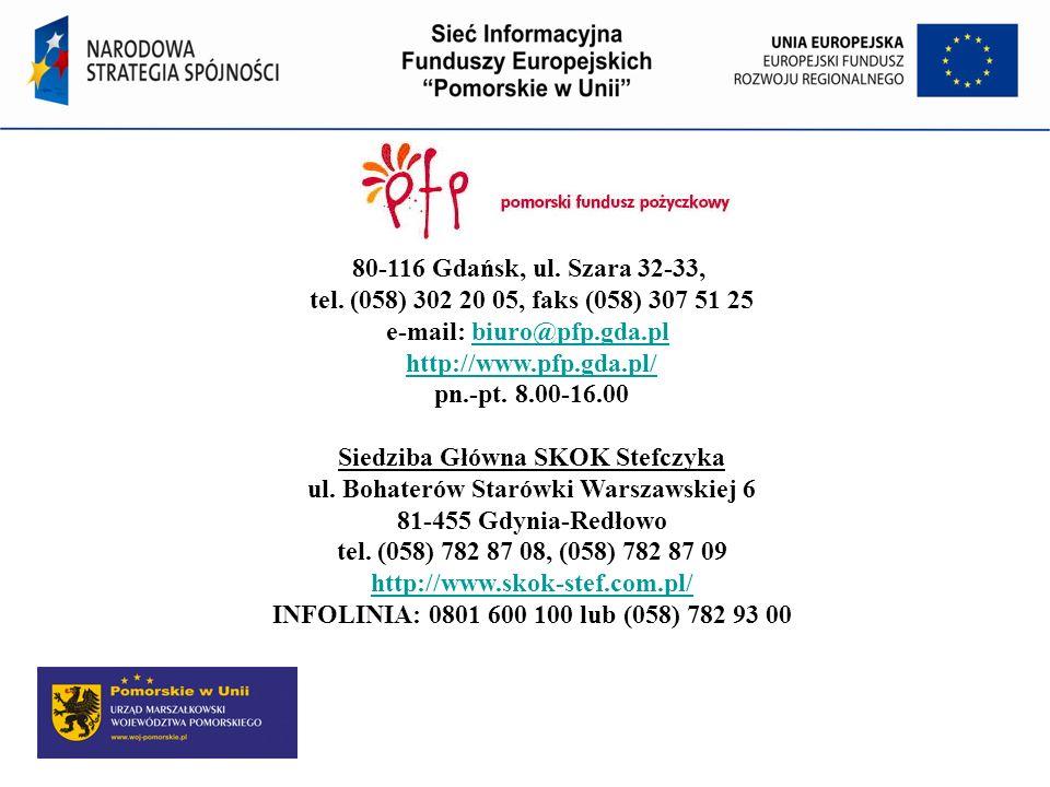 80-116 Gdańsk, ul. Szara 32-33, tel. (058) 302 20 05, faks (058) 307 51 25 e-mail: biuro@pfp.gda.pl http://www.pfp.gda.pl/ pn.-pt. 8.00-16.00 Siedziba