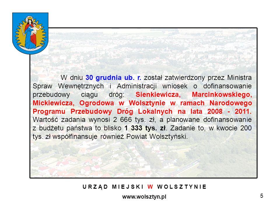 5 U R Z Ą D M I E J S K I W W O L S Z T Y N I E www.wolsztyn.pl W dniu 30 grudnia ub.