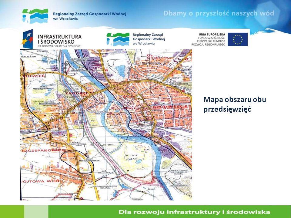 Mapa obszaru obu przedsięwzięć