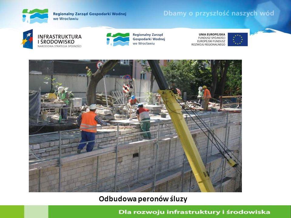 Odbudowa peronów śluzy