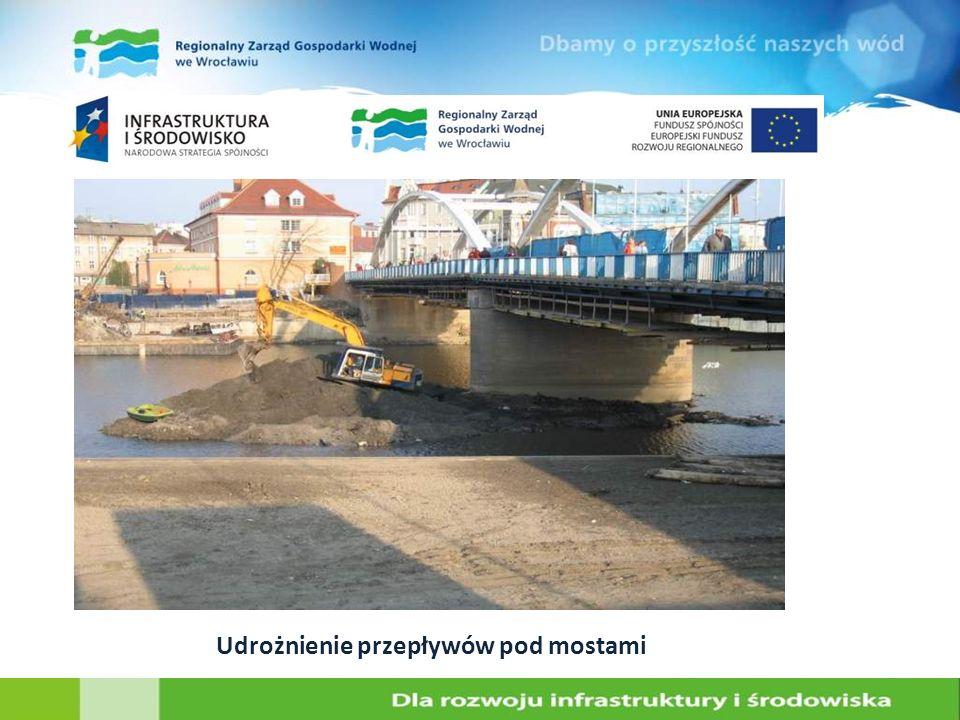 Udrożnienie przepływów pod mostami